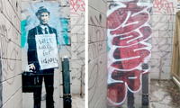 Manr Goes Over A Banksy In Toronto
