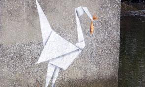New Banksy – Origami Crane