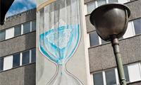 Blu Global Warming Painting in Berlin