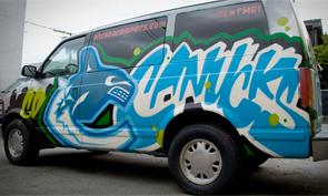 Vancouver Canucks Graffiti