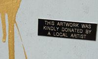 Imbue Donated Graffiti Plaques