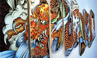 9 Skateboard Deck Dragon