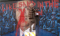 Retna & Rabi Mural Dissed on Santa Monica Blvd