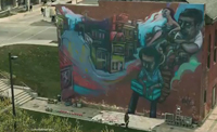 Elicser Graffiti in Molson Commercial