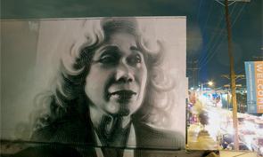 El Mac Paints Portrait of Connie Rice