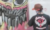 Ewok Graffiti at Indian Larry Motorcycles Garage