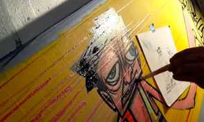 Ewok Painting NBA Basketball Backboard