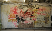 Graffiti wall found in historic building