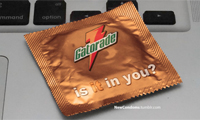 Corporate Logos & Slogans on Condom Wrappers