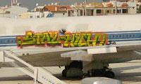 Graffiti on an Airplane