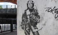 Harper's Army – G20 Stencil Graffiti