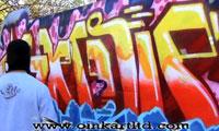 Hindue Painting Graffiti at Oink Art Ltd