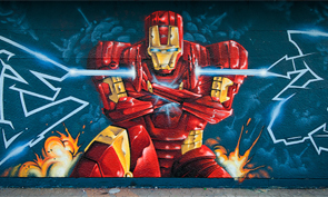 Crazy Apes Iron Man Mural