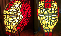 Stained Glass Iron Man Helmet