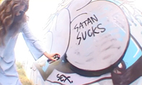 Jesus vs Satan Graffiti Battle
