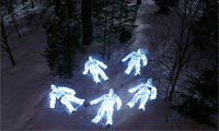 Light Skeletons and Figures by Janne Parviainen