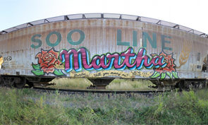 Freight Graffiti Marriage Proposal