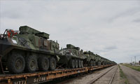 Military Vehicles on the Railway