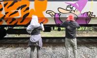 MUL Crew Graffiti on Trains