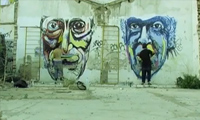 Pat and Fis Painting in Barcelona