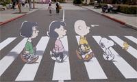The Peanuts Abby Road Street Art