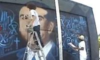 Rabi and Retna Paint Mayor Antonio Villaraigoza