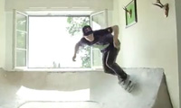 Skateboarding in a House