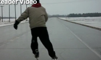 Manitoba Highway Skating Rink