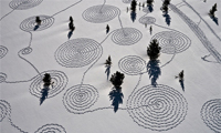 Snow Drawings in Colorado