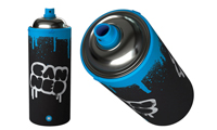 Spray Can Water Bottle
