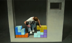 Tetris Stop-motion Chalk Art
