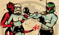 Star Wars & Superhero Tattoo Flash by Derick James