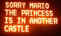 Mario Highway Sign Hack