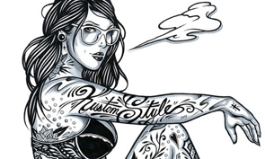 Tattooed Girls Illustrations