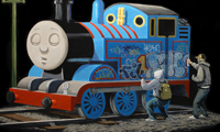 Banksy Thomas The Train