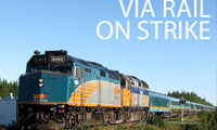 VIA Rail Workers on Strike