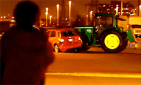 Runaway Tractor in a Wal-Mart Parking Lot