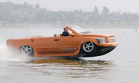 WaterCar Python: Part Corvette, Part Boat