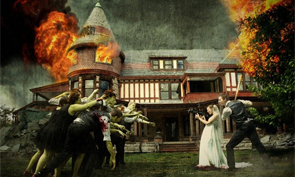 Zombie Wedding Created in Photoshop